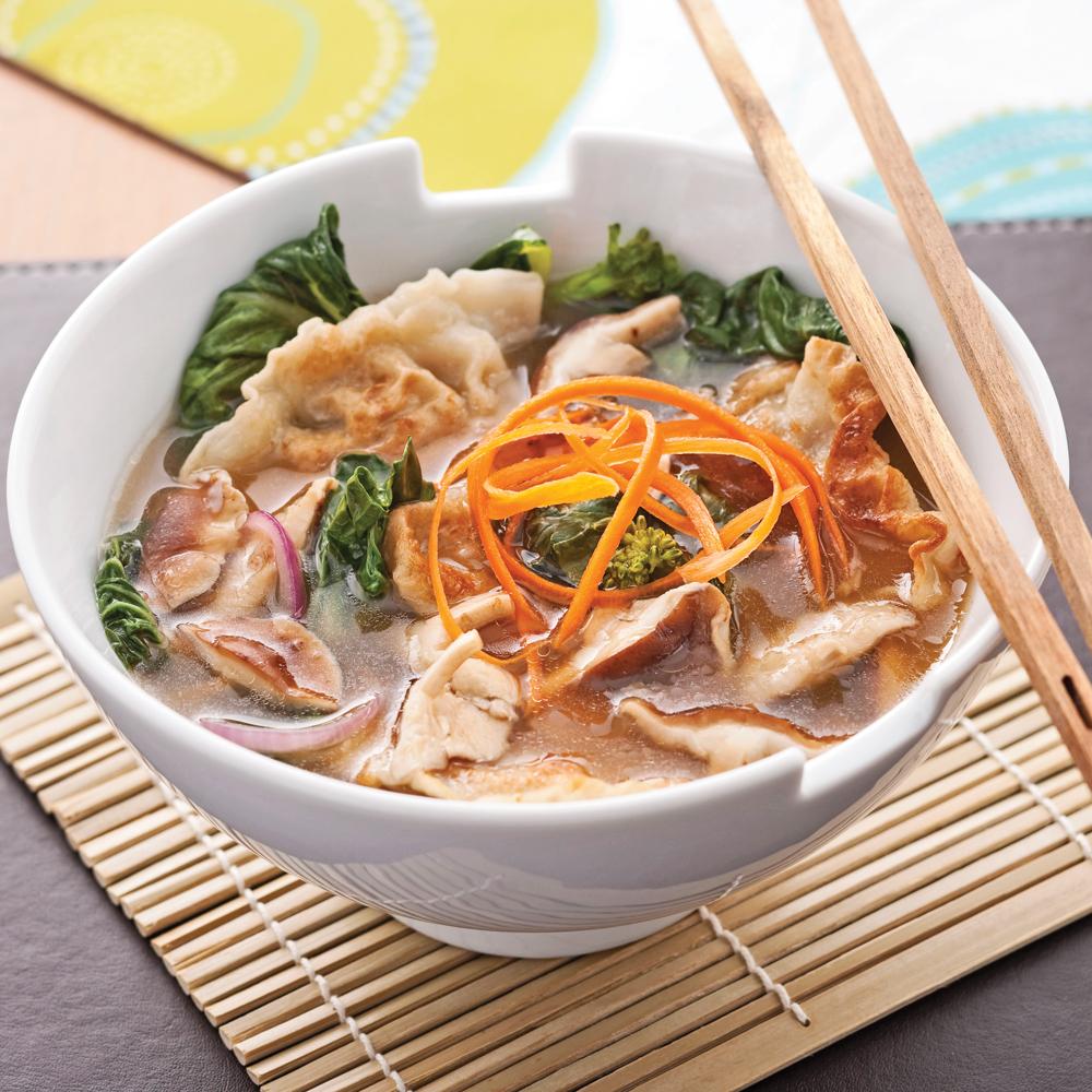 Soupe repas aux raviolis chinois recettes cuisine et - Cuisine pratique ...