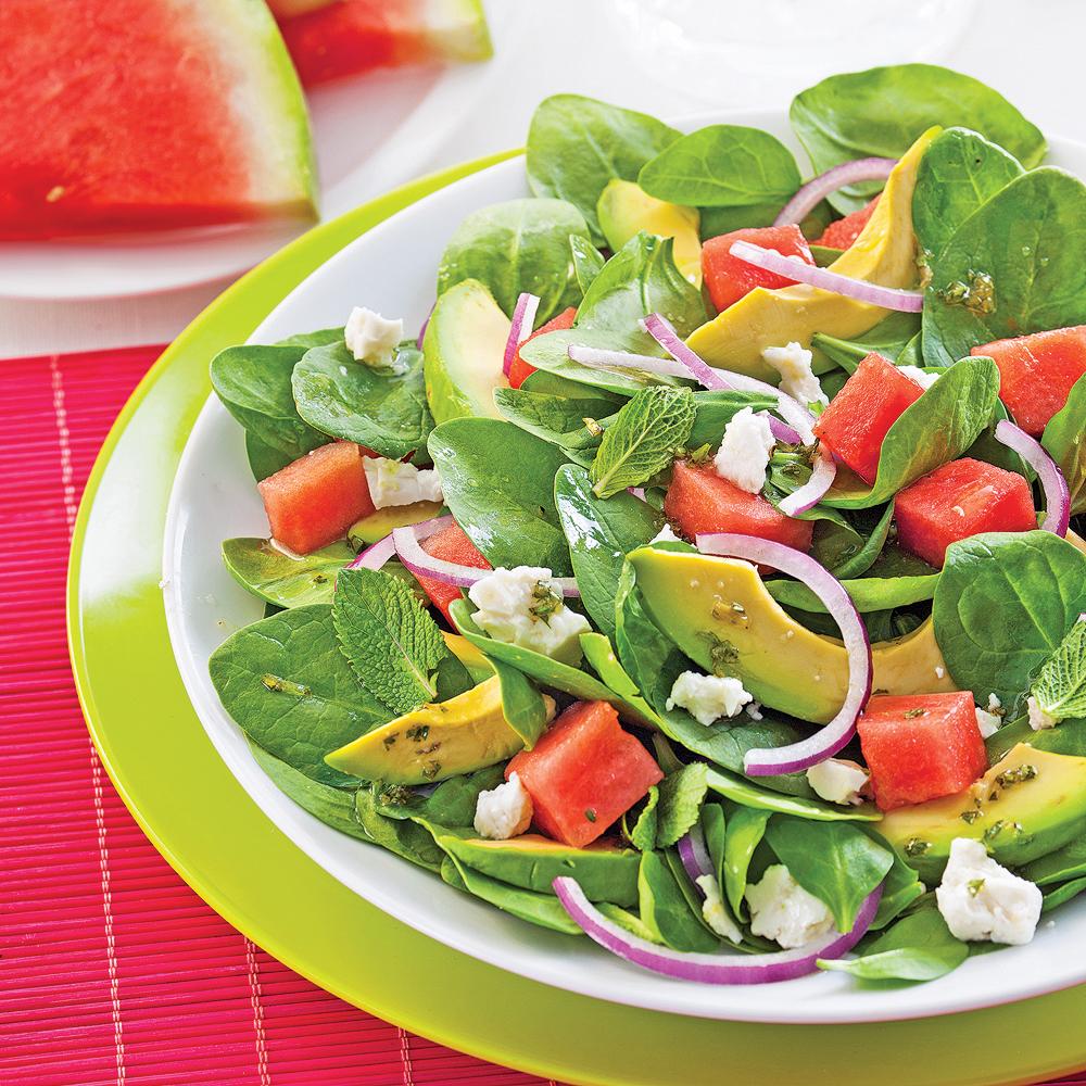 salade d 39 avocats melon d 39 eau et feta recettes cuisine et nutrition pratico pratique. Black Bedroom Furniture Sets. Home Design Ideas