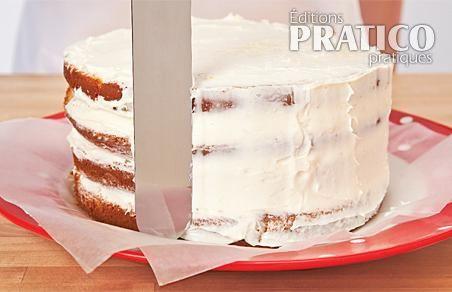 comment glacer un gâteau étagé - en étapes - cuisine et nutrition