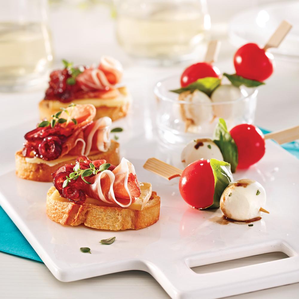 Duo d 39 antipasti recettes cuisine et nutrition pratico pratique - Brochettes aperitives sans cuisson ...