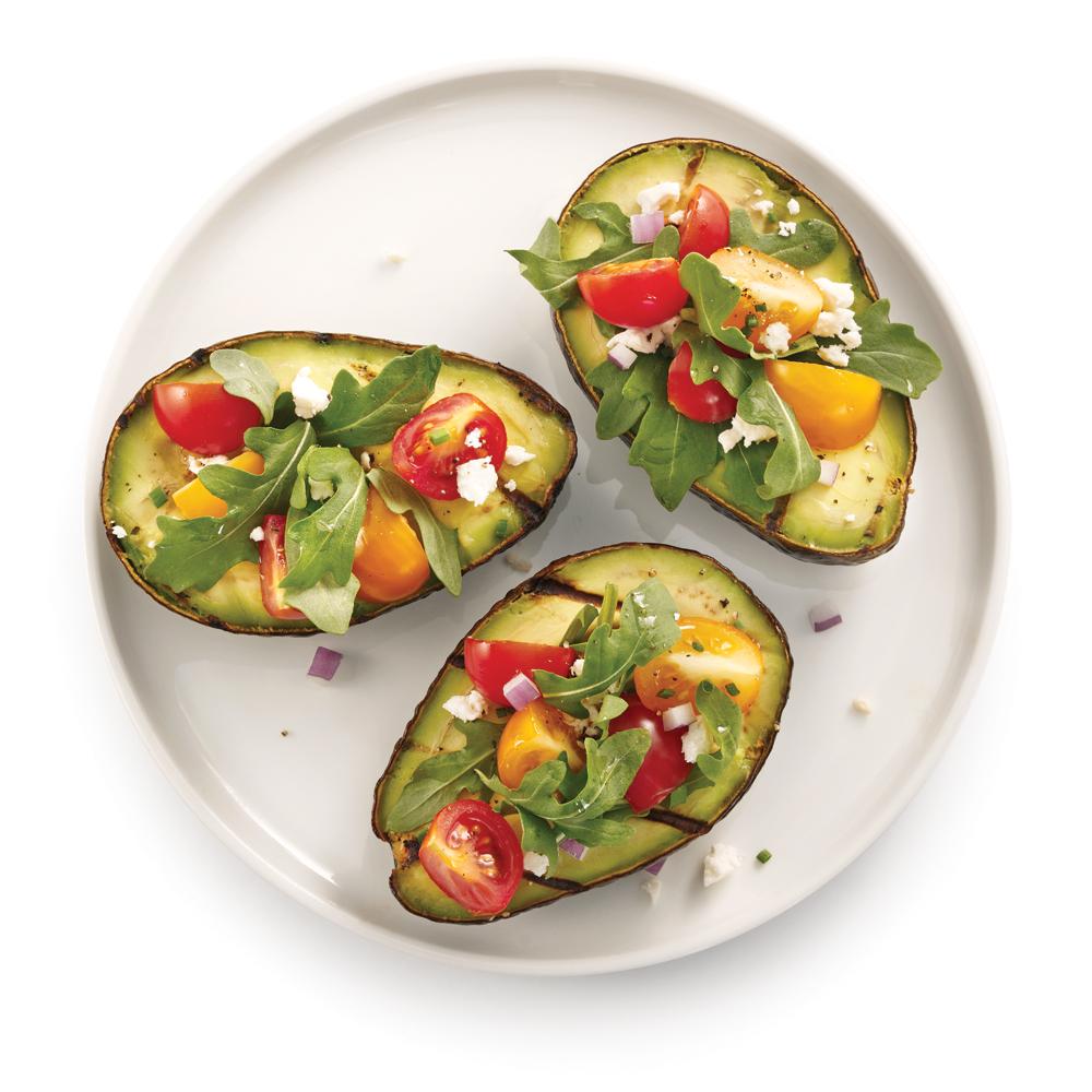 salade d 39 avocats grill s recettes cuisine et nutrition pratico pratique. Black Bedroom Furniture Sets. Home Design Ideas