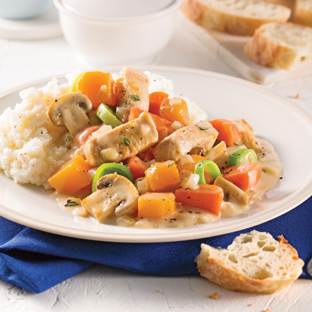 Rago t de poulet sauce cr meuse la mijoteuse recettes - Cuisine a la mijoteuse ...