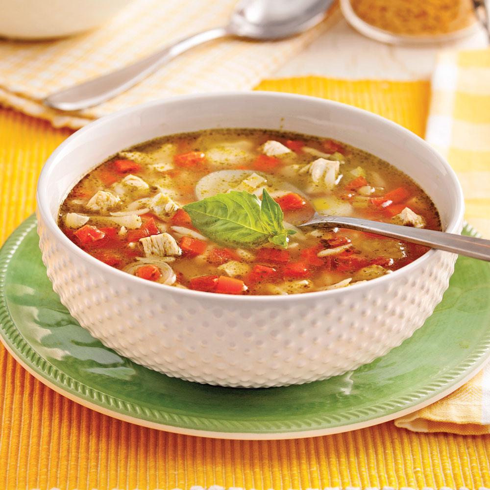 Soupe repas au poulet l 39 italienne recettes cuisine for Repas de cuisine