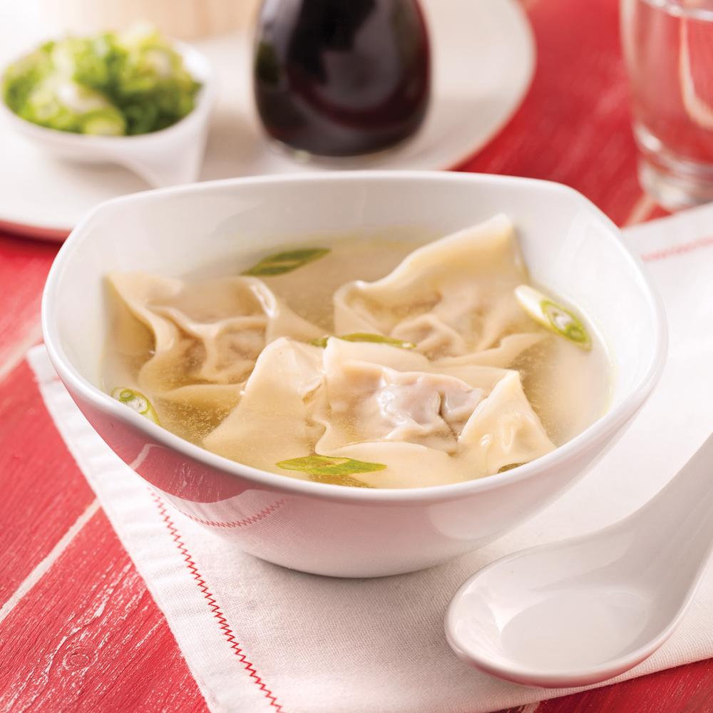 soupe wonton au porc recettes cuisine et nutrition pratico pratique. Black Bedroom Furniture Sets. Home Design Ideas