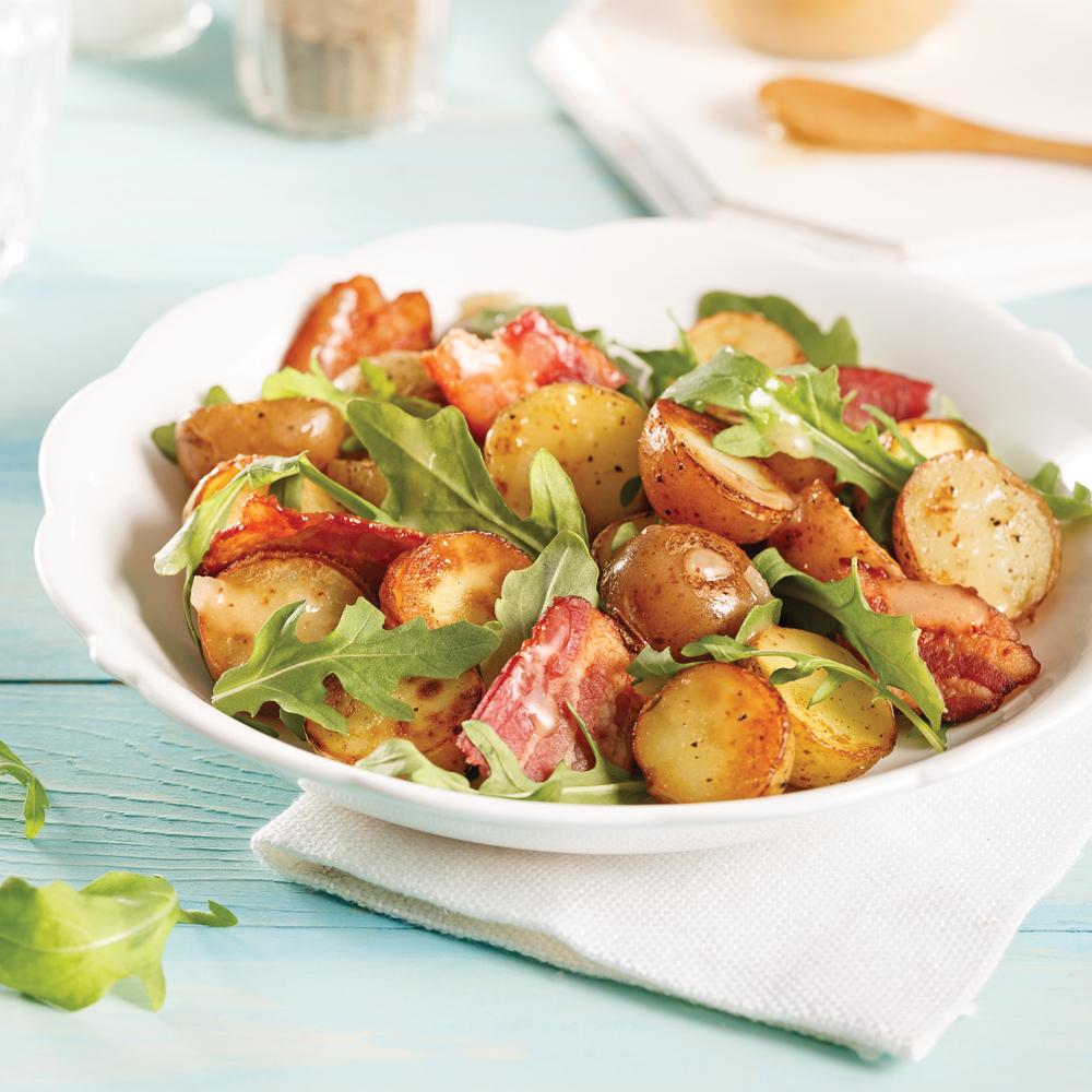salade ti de de pommes de terre grelots bacon et roquette recettes cuisine et nutrition. Black Bedroom Furniture Sets. Home Design Ideas