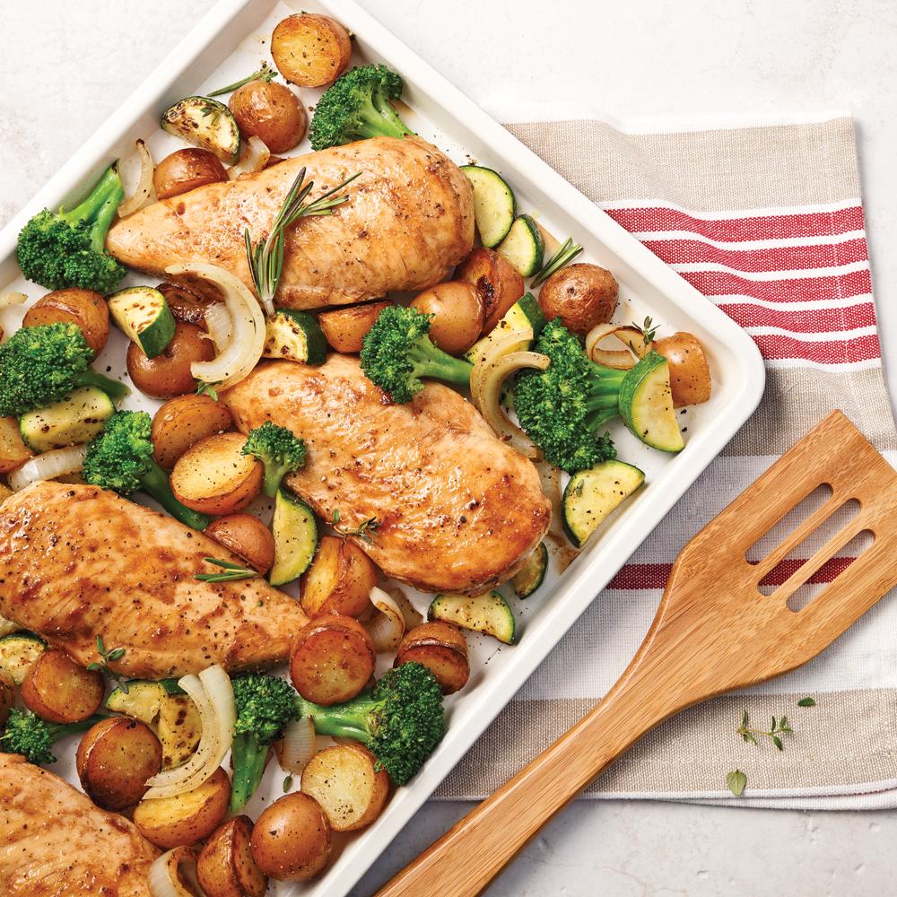 Poitrines de poulet, sauce sucrée au vinaigre balsamique ...