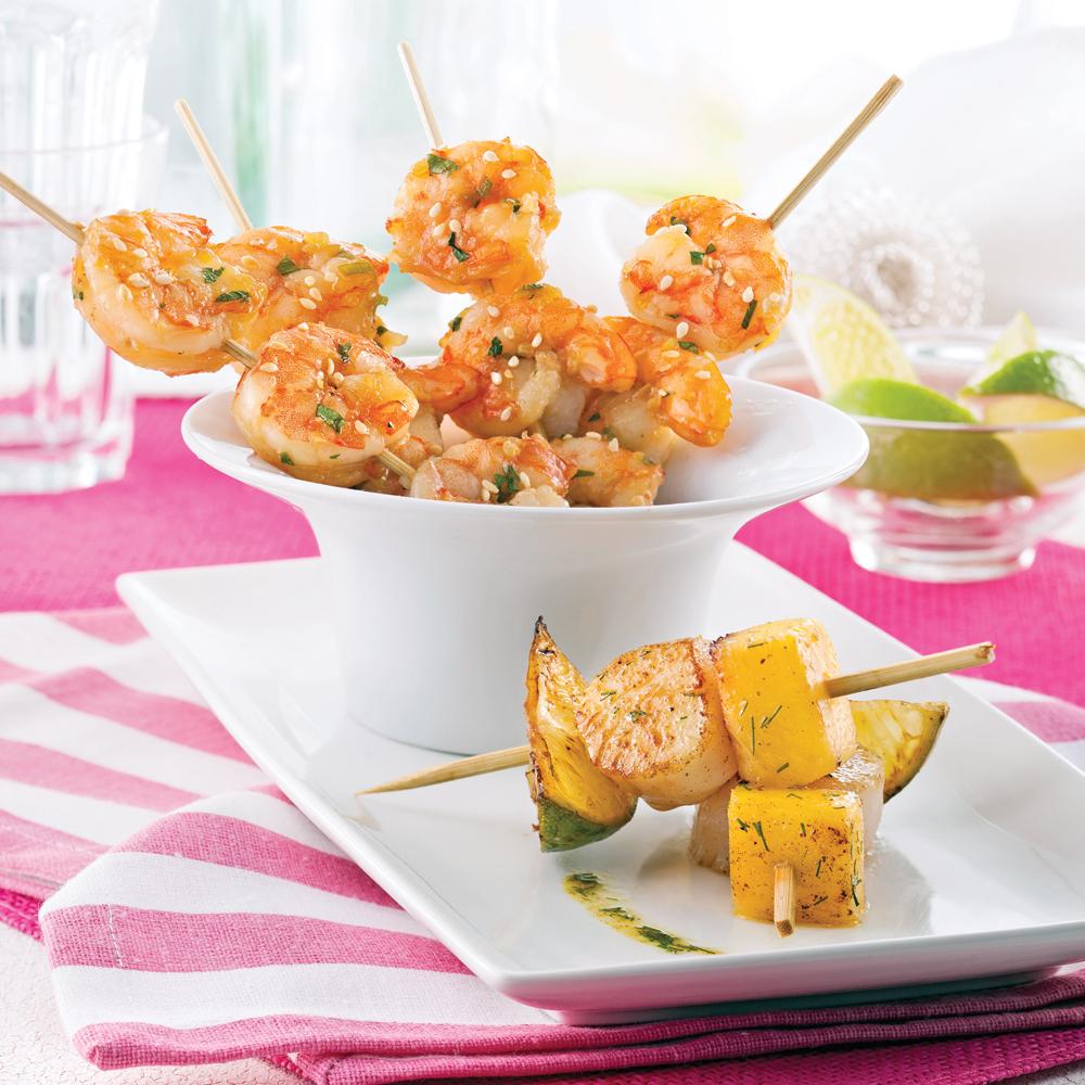 Entr e de mini brochettes recettes cuisine et nutrition pratico pratique - Brochettes aperitives sans cuisson ...