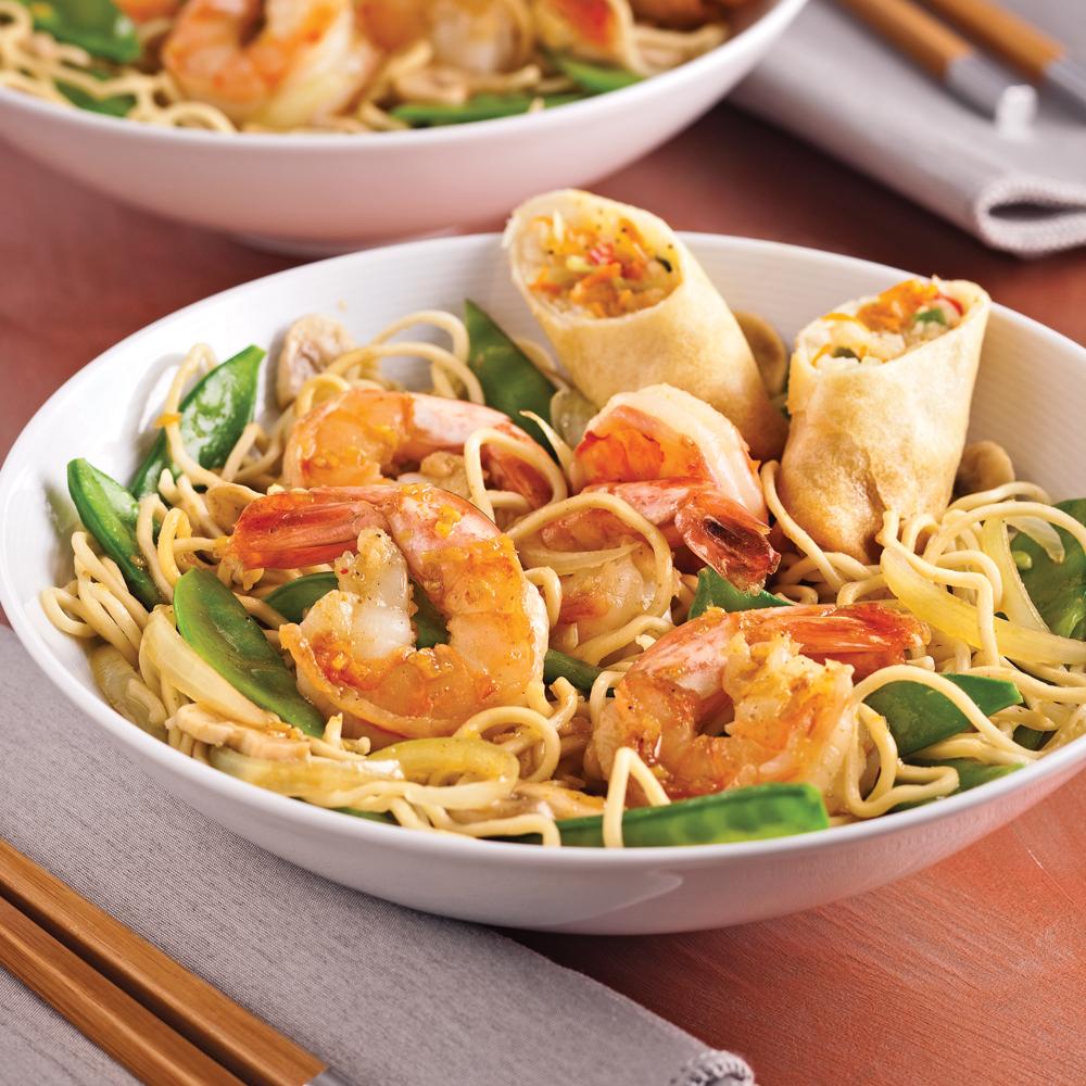 nouilles aux crevettes la mode de singapour recettes cuisine et nutrition pratico pratique. Black Bedroom Furniture Sets. Home Design Ideas