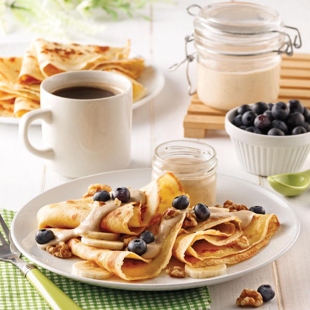 crêpes aux bananes et beurre d'arachide - recettes - cuisine et