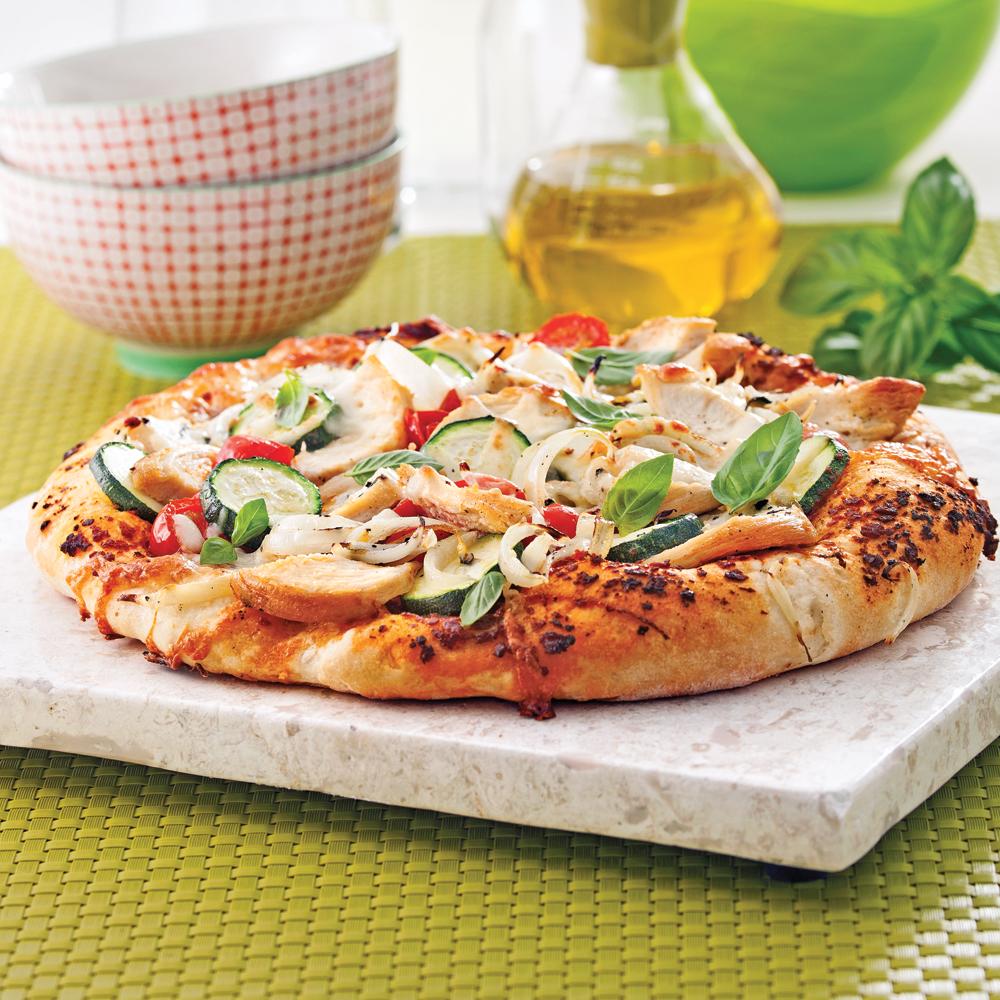 Pizza au poulet marin l 39 italienne recettes cuisine et nutrition pratico pratique - Recette de pate a pizza italienne ...