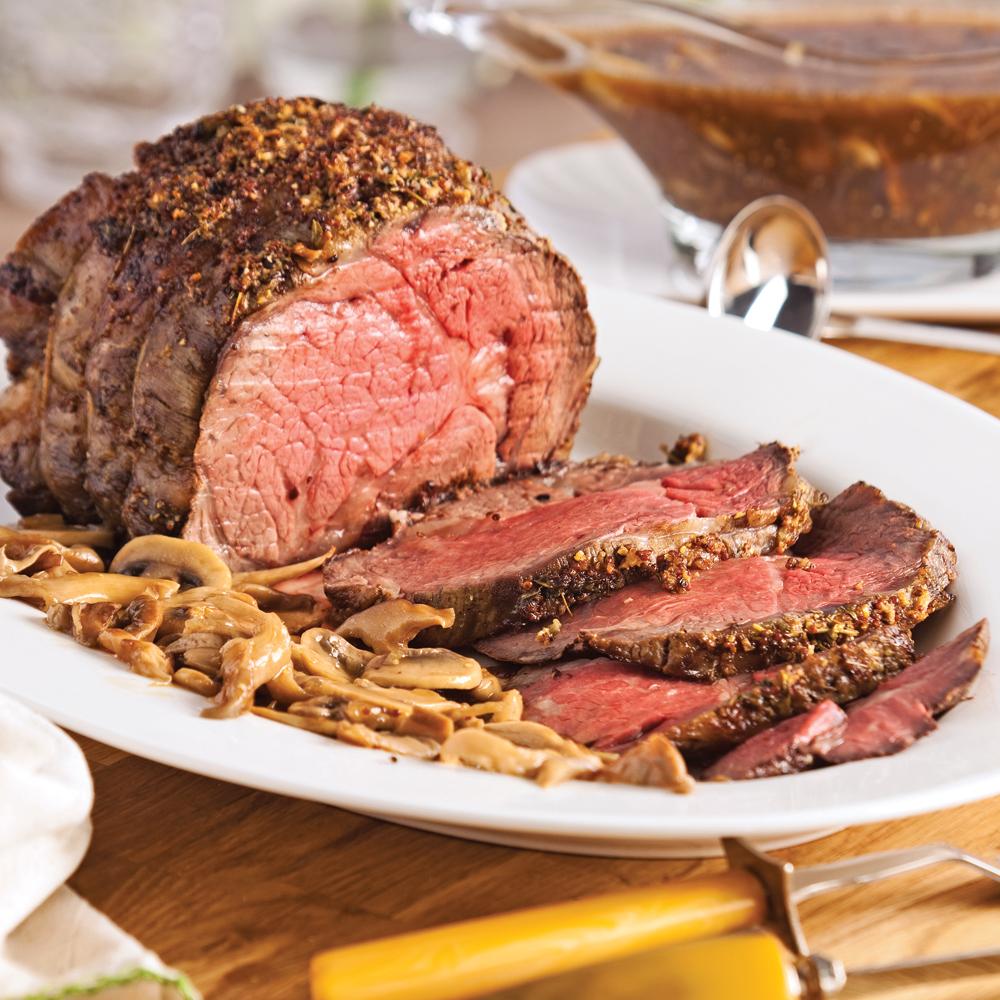 R ti de boeuf aux trois champignons recettes cuisine et nutrition pratico pratique - Cuisson filet de boeuf au four chaleur tournante ...