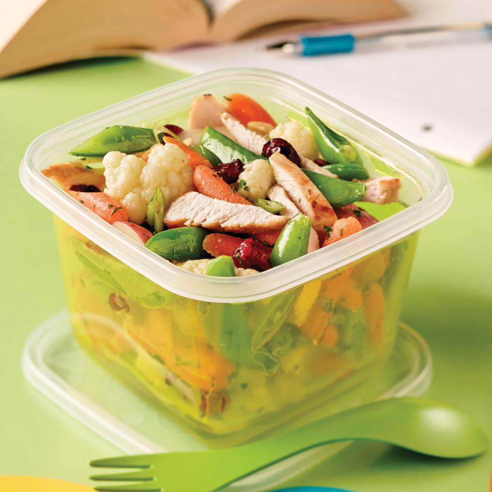 salade de poulet et l gumes cuits recettes cuisine et nutrition pratico pratique. Black Bedroom Furniture Sets. Home Design Ideas
