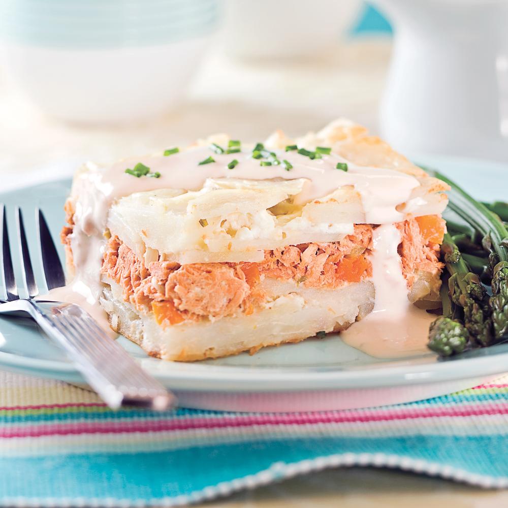 p t au saumon tag la mijoteuse recettes cuisine et nutrition pratico pratique. Black Bedroom Furniture Sets. Home Design Ideas