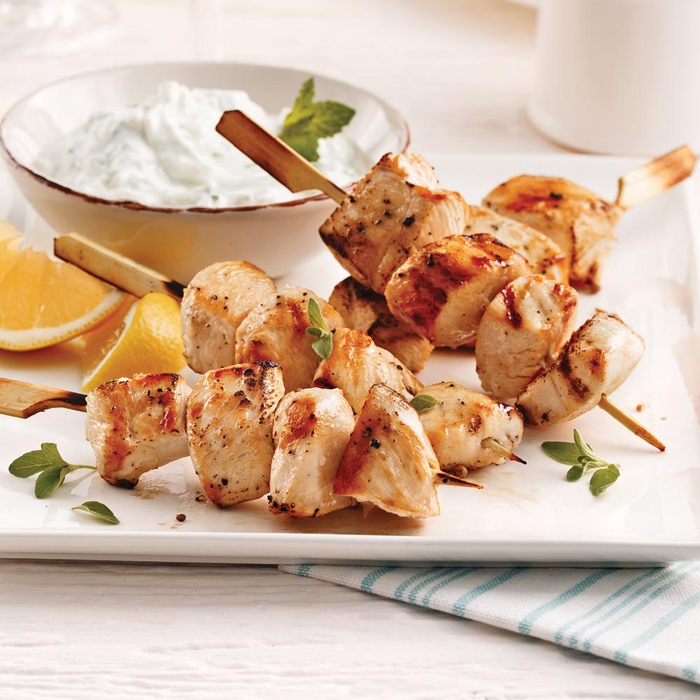 Brochettes de poulet la grecque recettes cuisine et for Cuisine grecque