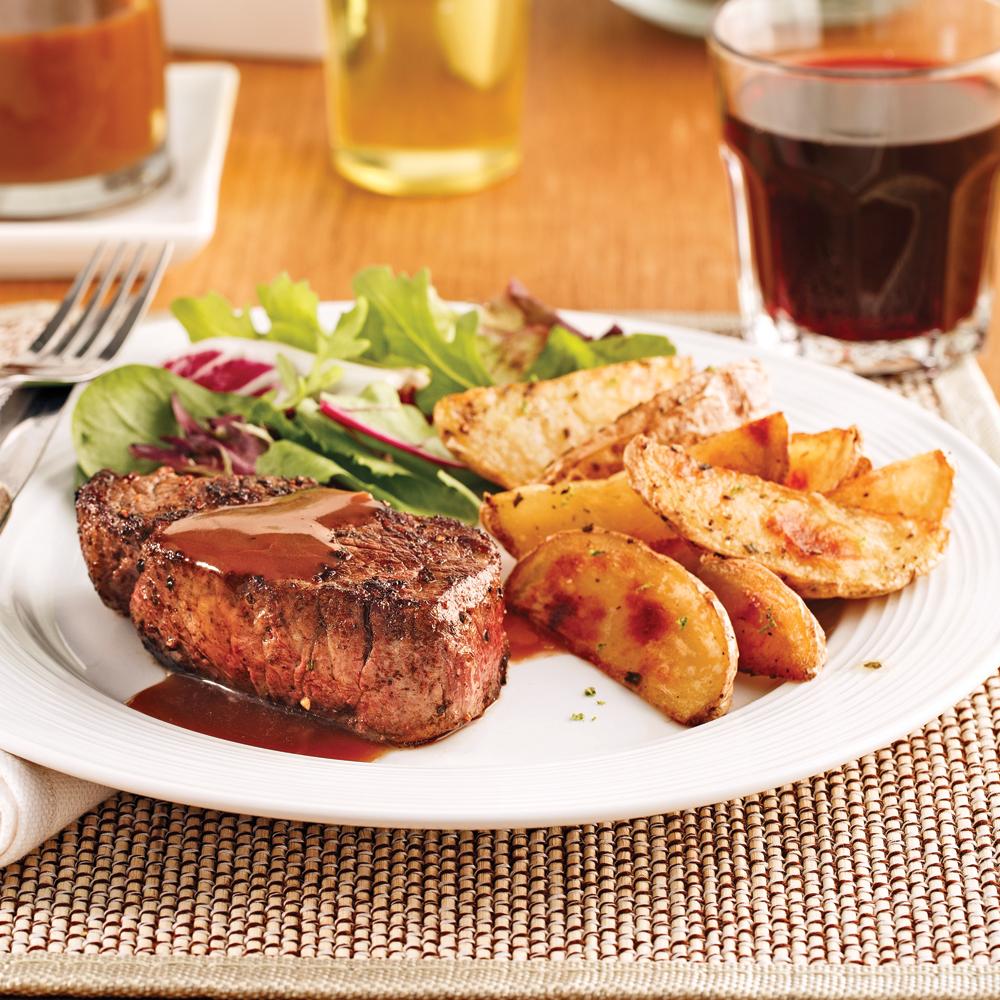filets mignons sauce au vin rouge recettes cuisine et nutrition pratico pratique. Black Bedroom Furniture Sets. Home Design Ideas