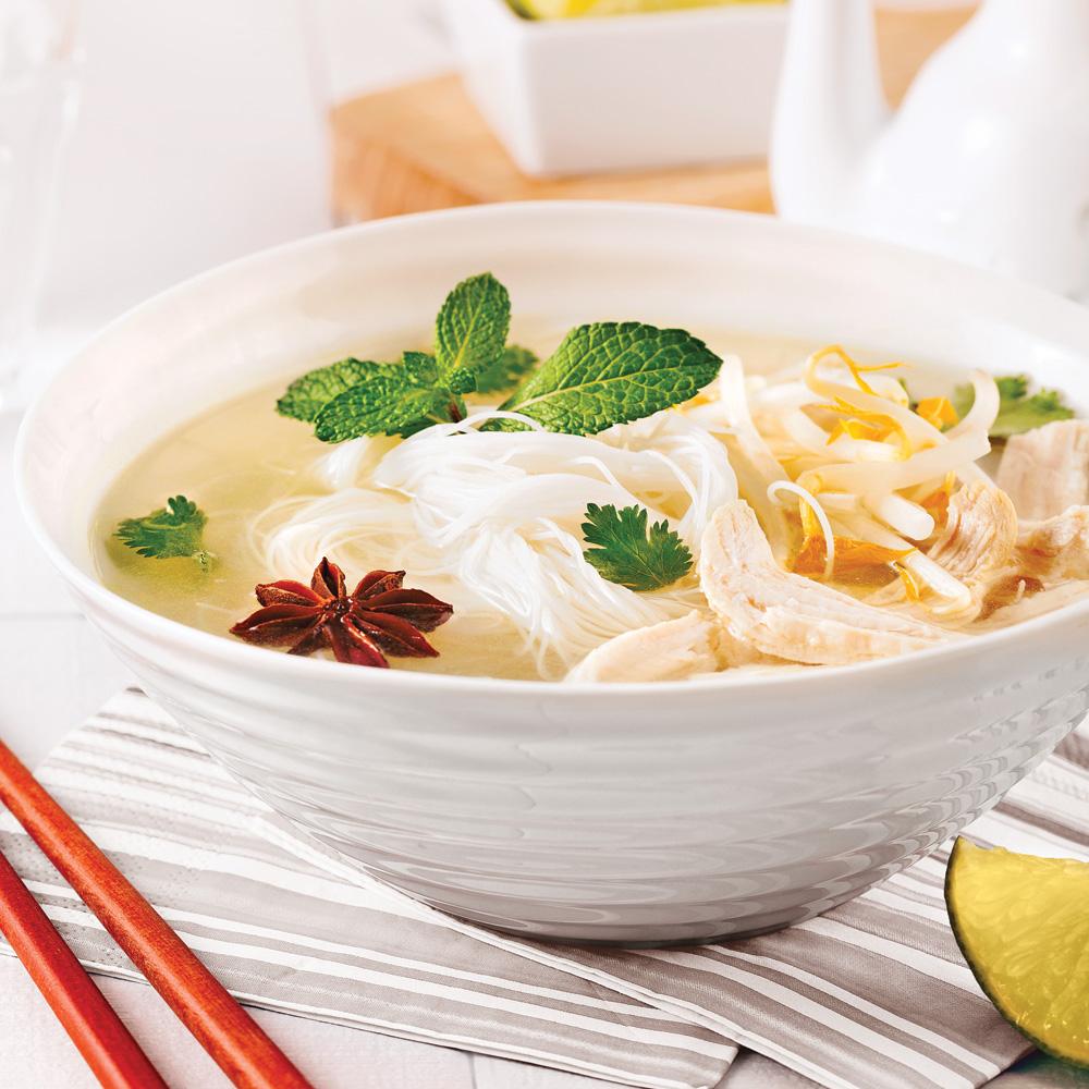 Cuisine Vietnamienne: Soupe Vietnamienne Au Poulet Et Vermicelles De Riz