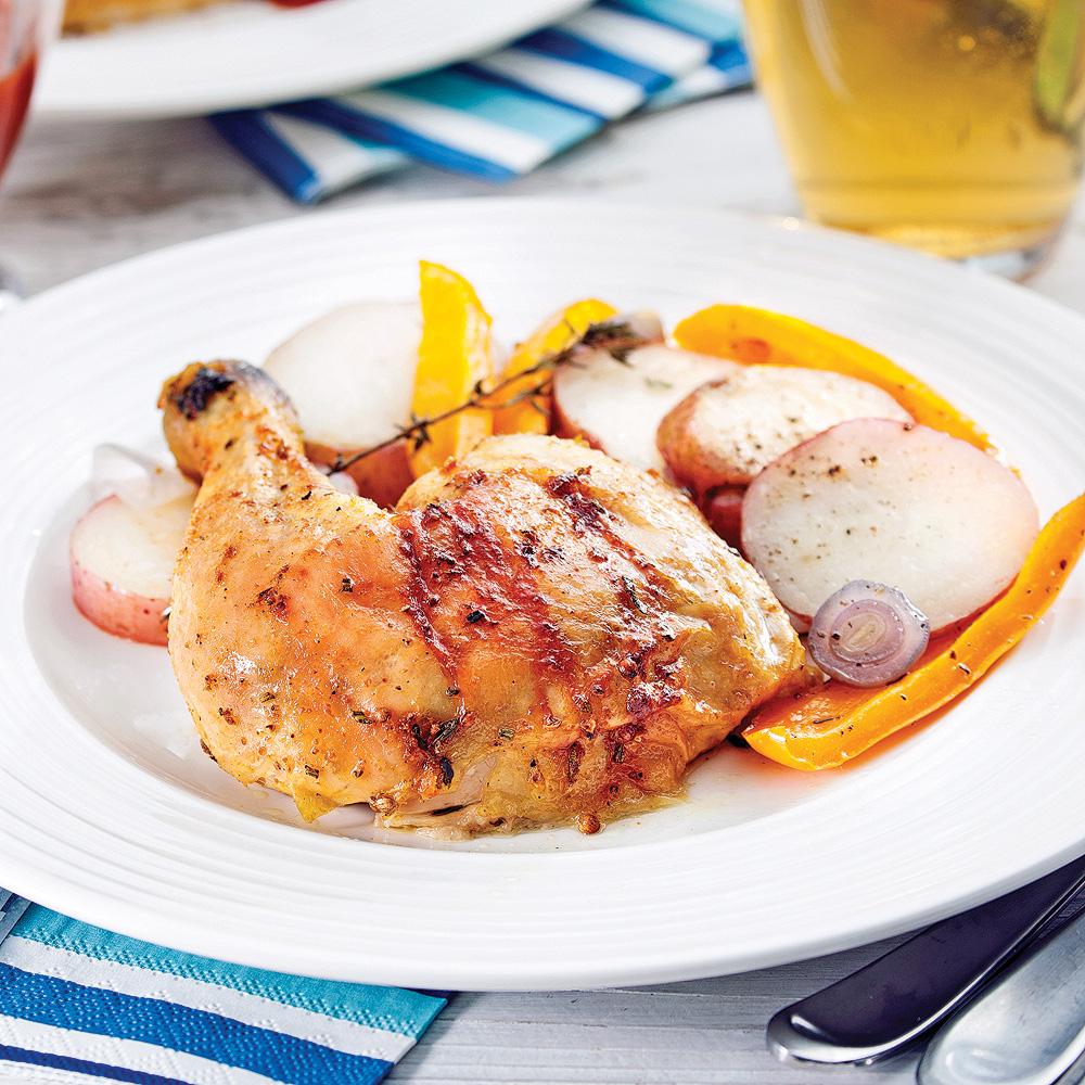 poulet rôti sur canette de bière - recettes - cuisine et nutrition