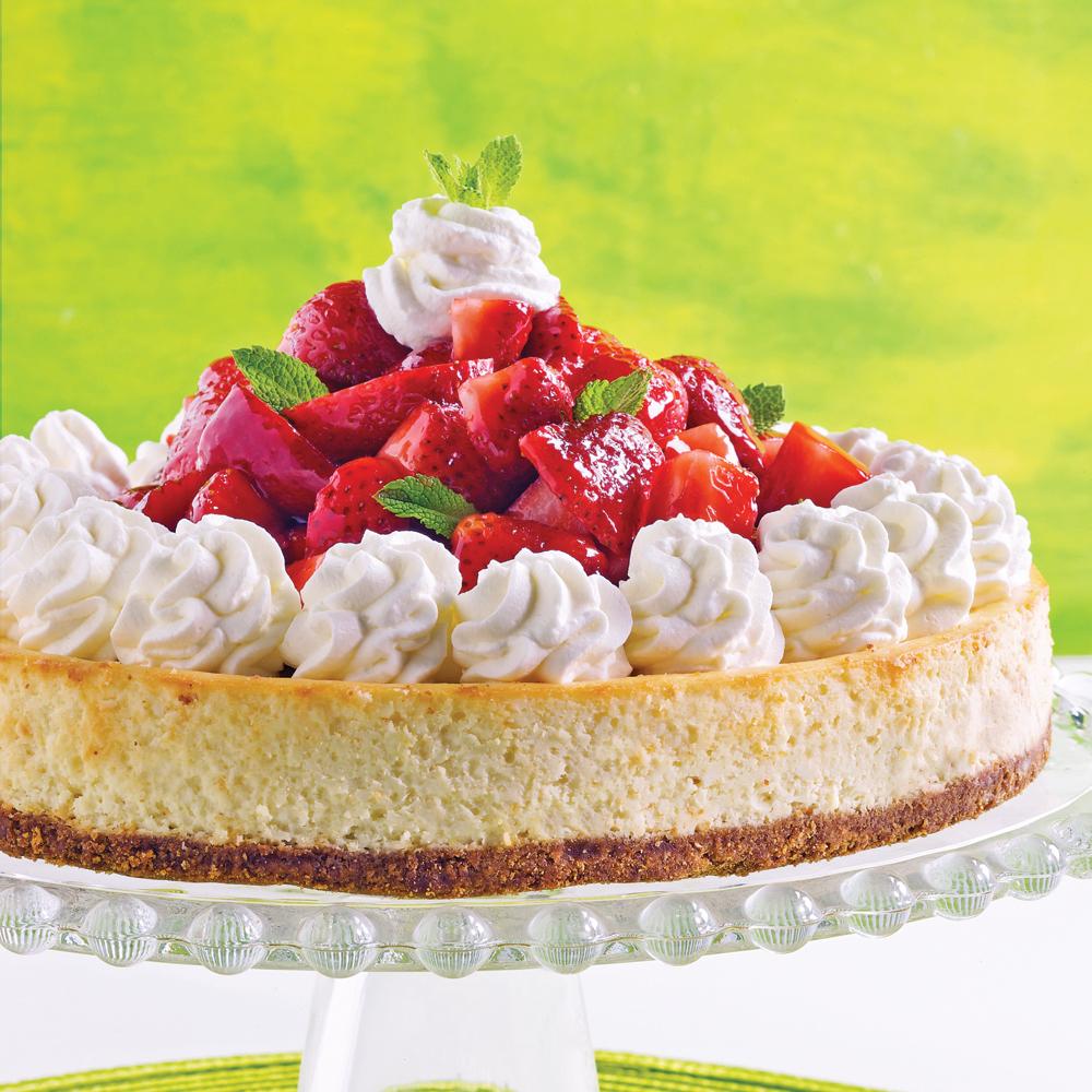 G teau new yorkais au fromage et fruits frais recettes - Decoration de gateau avec des fruits ...