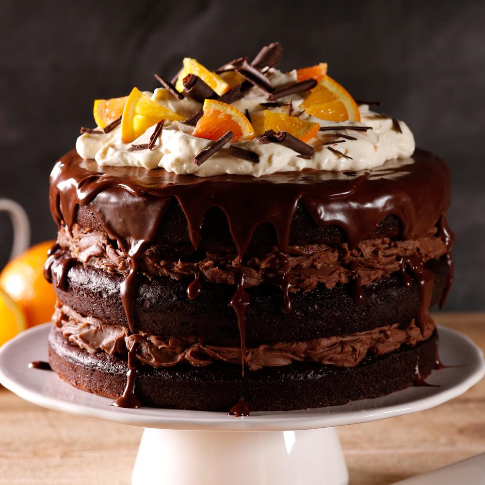 g teau d cadent au chocolat et l 39 orange recettes cuisine et nutrition pratico pratique. Black Bedroom Furniture Sets. Home Design Ideas