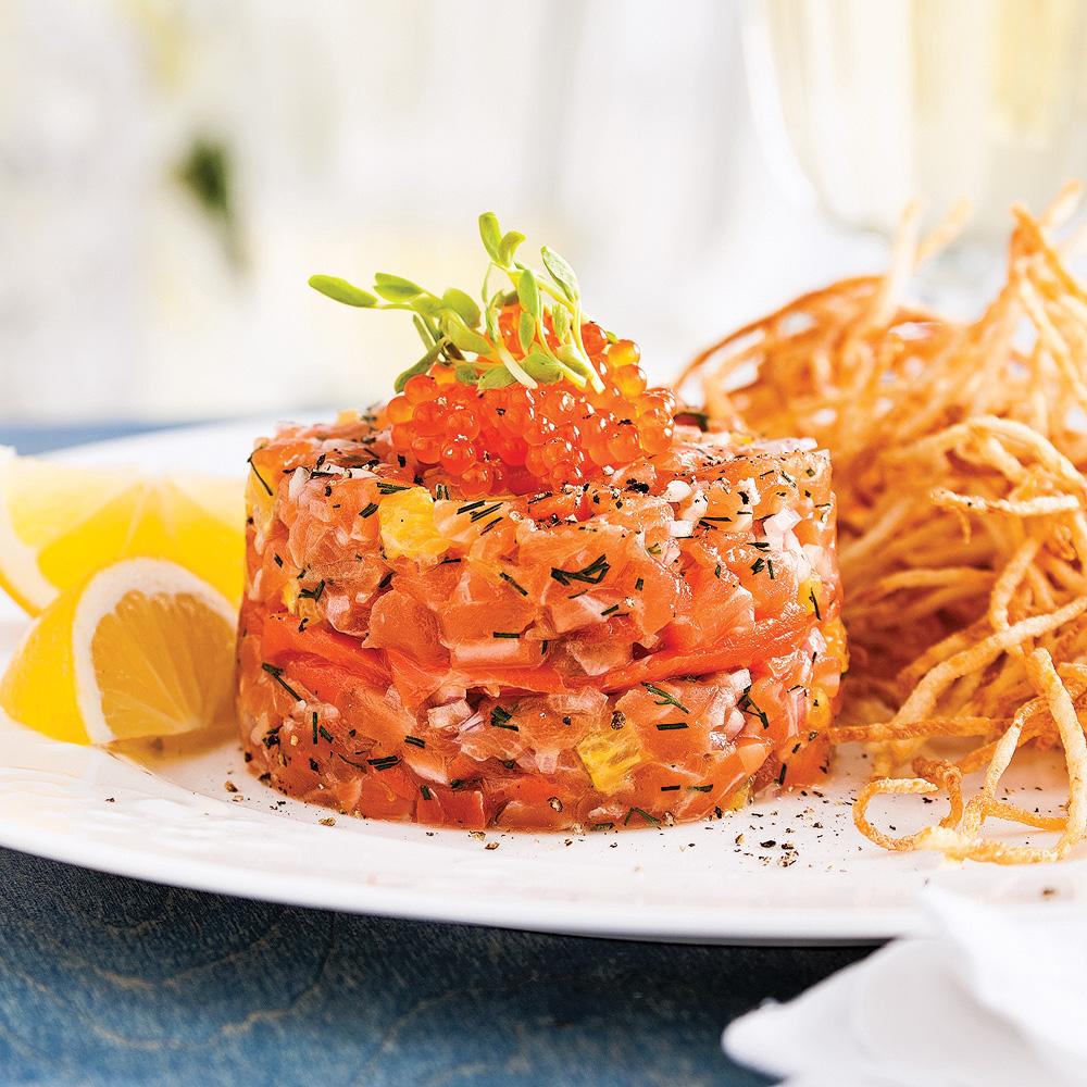 tartare aux deux saumons recettes cuisine et nutrition pratico pratique. Black Bedroom Furniture Sets. Home Design Ideas