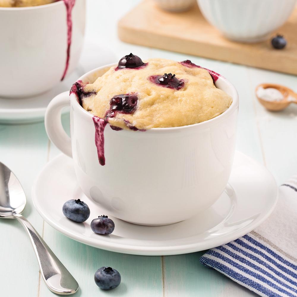 Mug cake aux bananes et bleuets recettes cuisine et - Cuisine uretre et dessert ...