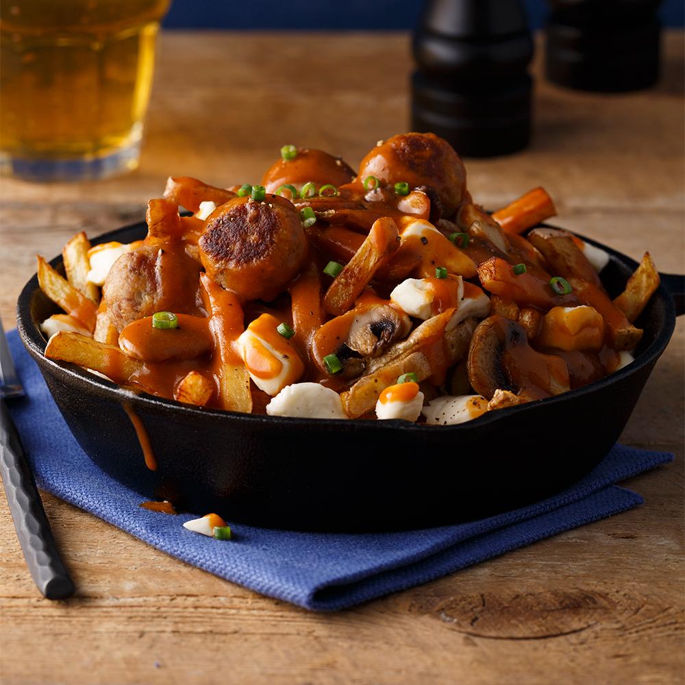 Poutine aux boulettes de canard du lac brome recettes cuisine et nutrition pratico pratique - Recette de cuisse de canard en sauce ...