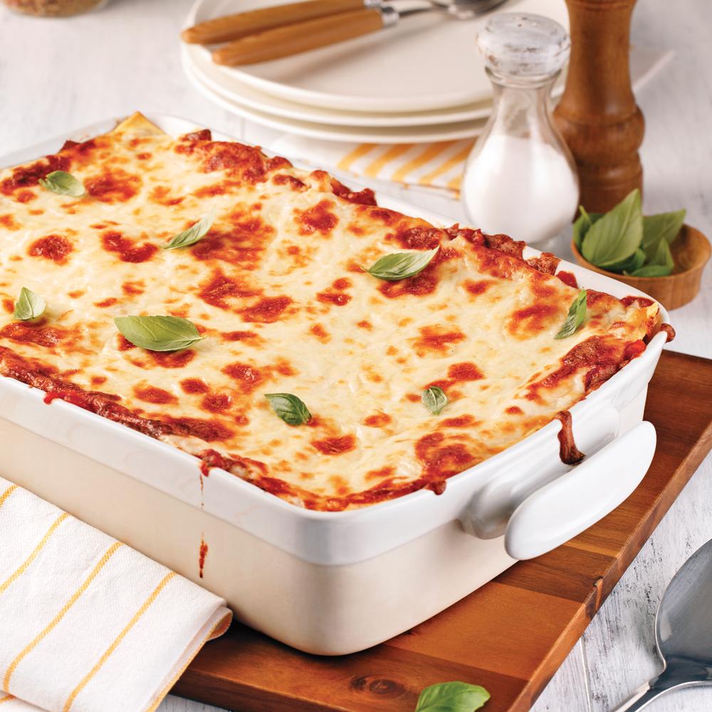 Lasagne sauce bolognaise aux champignons recettes cuisine et nutrition pratico pratique - Cuisine italienne recette ...