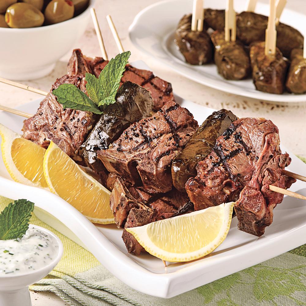 Brochettes d 39 agneau la grecque recettes cuisine et for Cuisine grecque