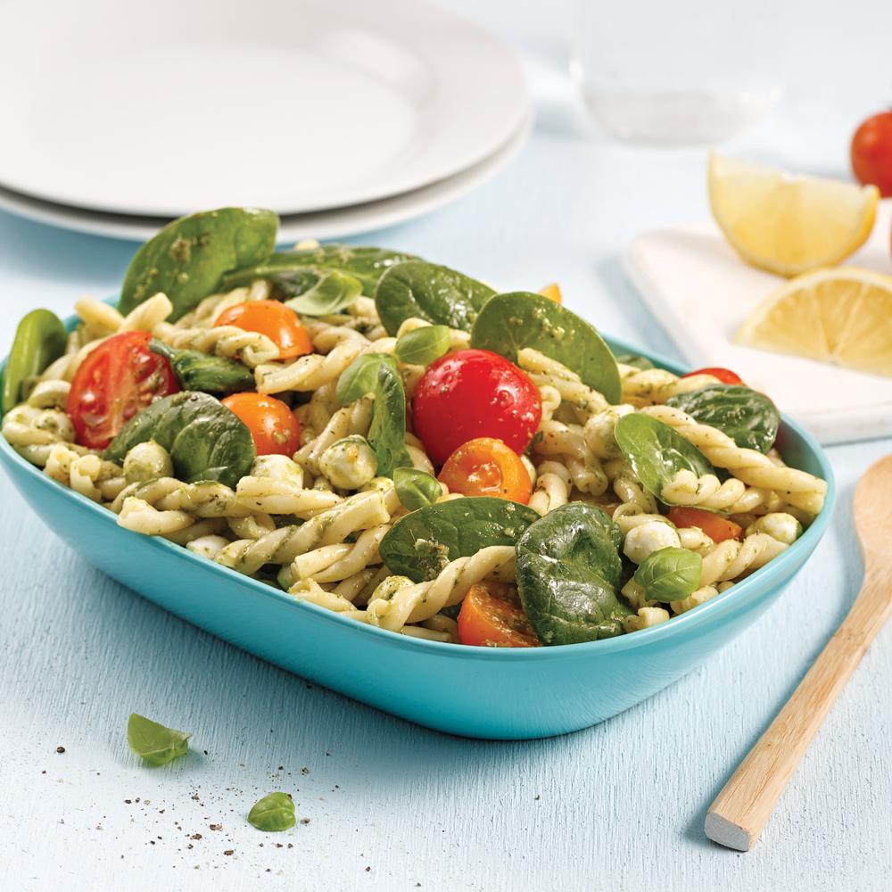 Salade de pâtes et épinards au pesto - Recettes - Cuisine et ... - Salade Pates Pesto