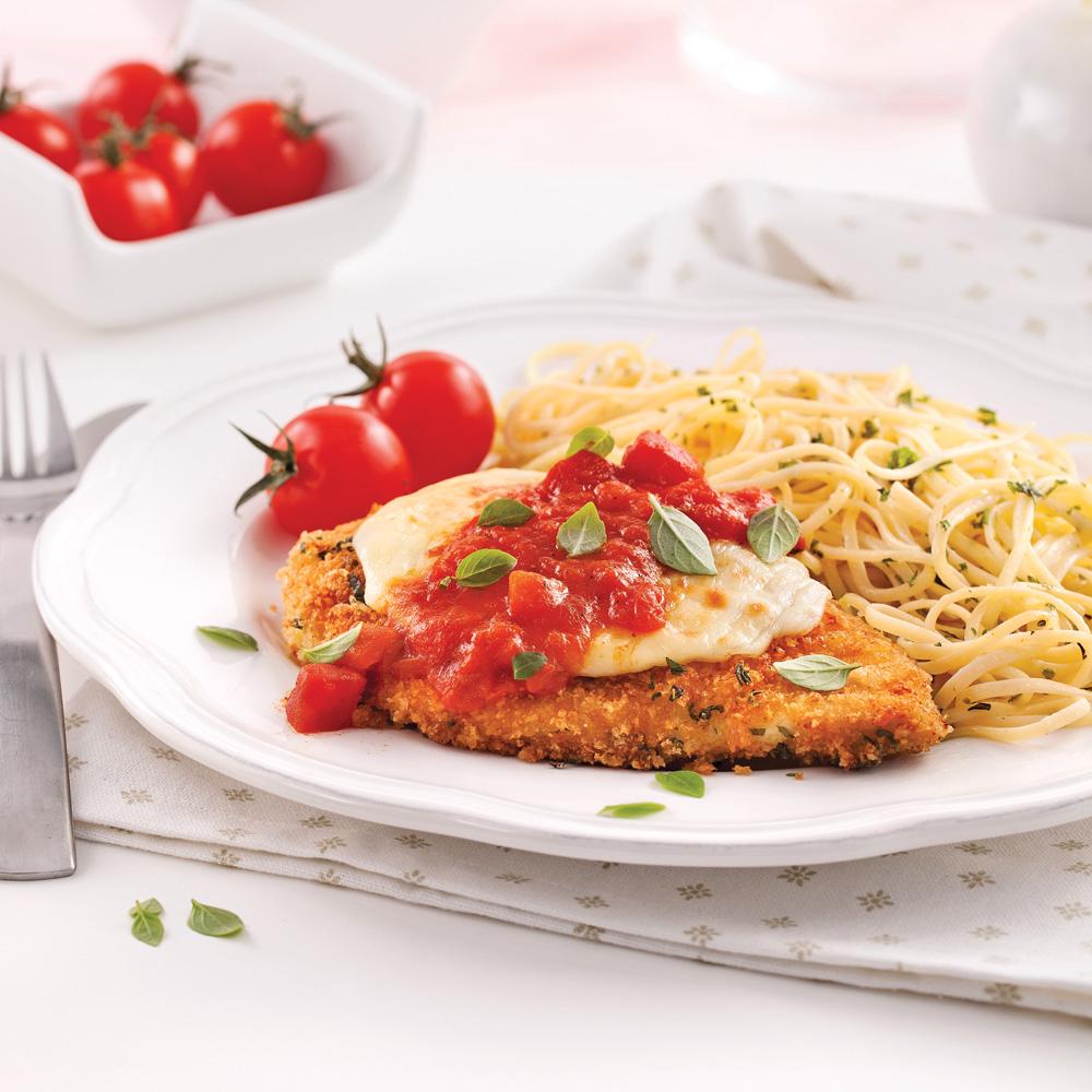 escalopes de poulet parmigiana recettes cuisine et nutrition pratico pratique. Black Bedroom Furniture Sets. Home Design Ideas