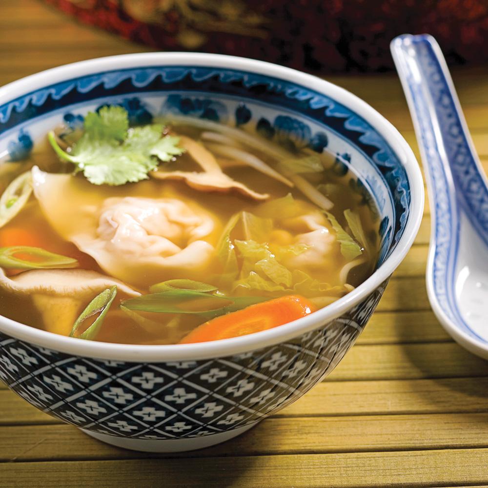 soupe wonton porc et gingembre recettes cuisine et nutrition pratico pratique. Black Bedroom Furniture Sets. Home Design Ideas