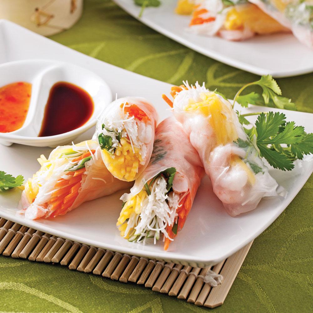 rouleaux de printemps aux crevettes nordiques recettes cuisine et nutrition pratico pratique. Black Bedroom Furniture Sets. Home Design Ideas