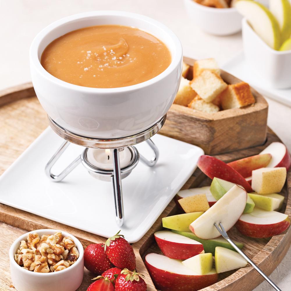 fondue au caramel la fleur de sel recettes cuisine et nutrition pratico pratique. Black Bedroom Furniture Sets. Home Design Ideas