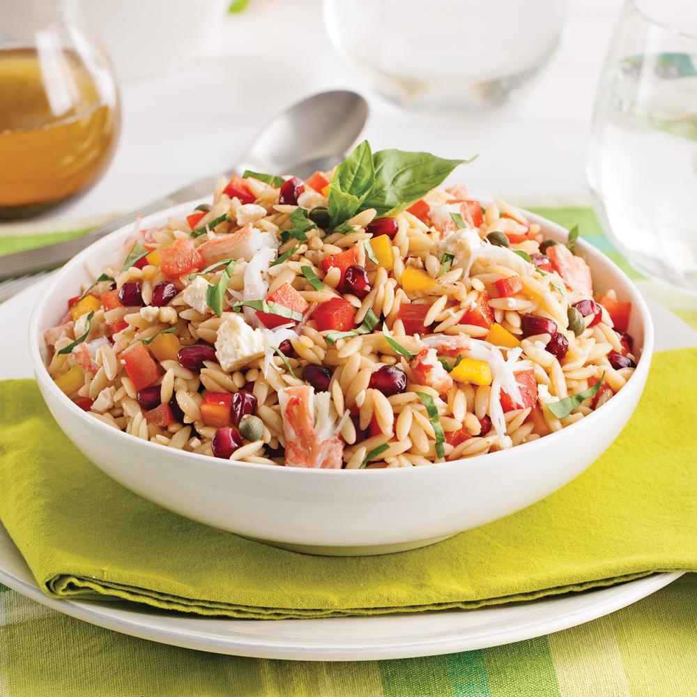 Salade d 39 orzo au crabe recettes cuisine et nutrition - Cuisine pratique ...