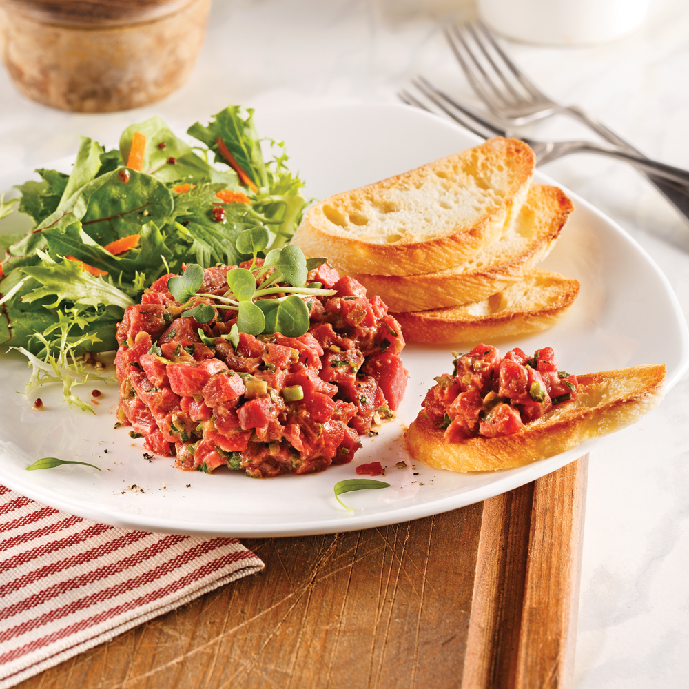 Tartare de boeuf version all g e recettes cuisine et nutrition pratico pratique - Tartare de boeuf cyril lignac ...