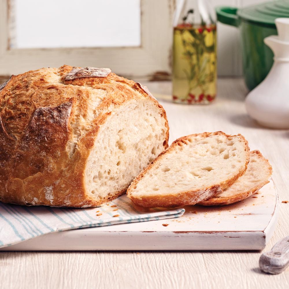 miche de pain dans une cocotte recettes cuisine et nutrition pratico pratique. Black Bedroom Furniture Sets. Home Design Ideas