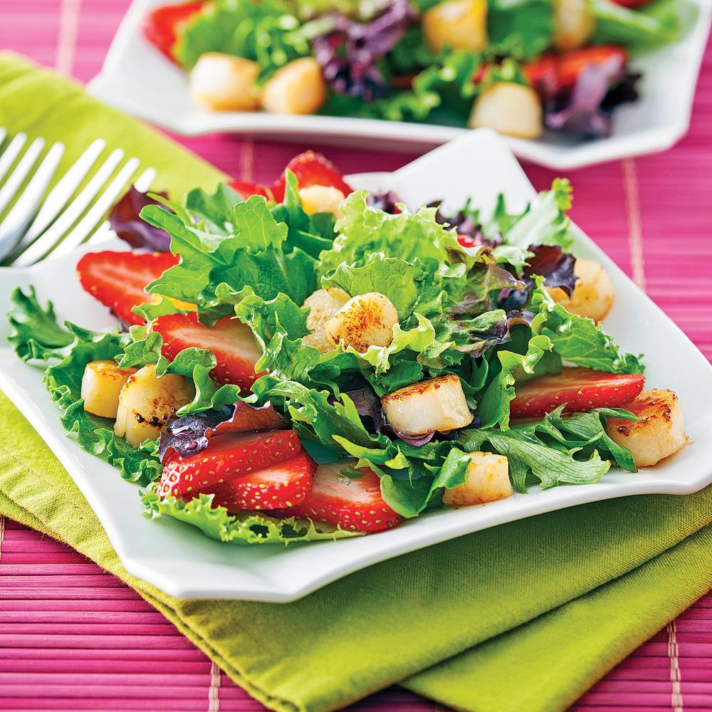 salade de p toncles et fraises recettes cuisine et nutrition pratico pratique. Black Bedroom Furniture Sets. Home Design Ideas