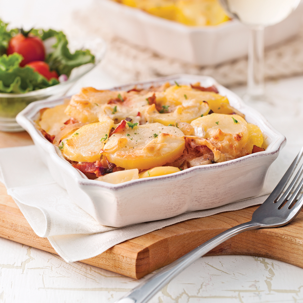 Tartiflette la qu b coise recettes cuisine et for Cuisine quebecoise