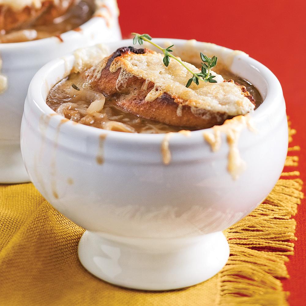 soupe l 39 oignon gratin e recettes cuisine et nutrition pratico pratique. Black Bedroom Furniture Sets. Home Design Ideas
