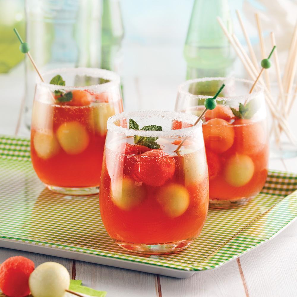 Cocktail ros aux trois melons recettes cuisine et for Cocktail rose