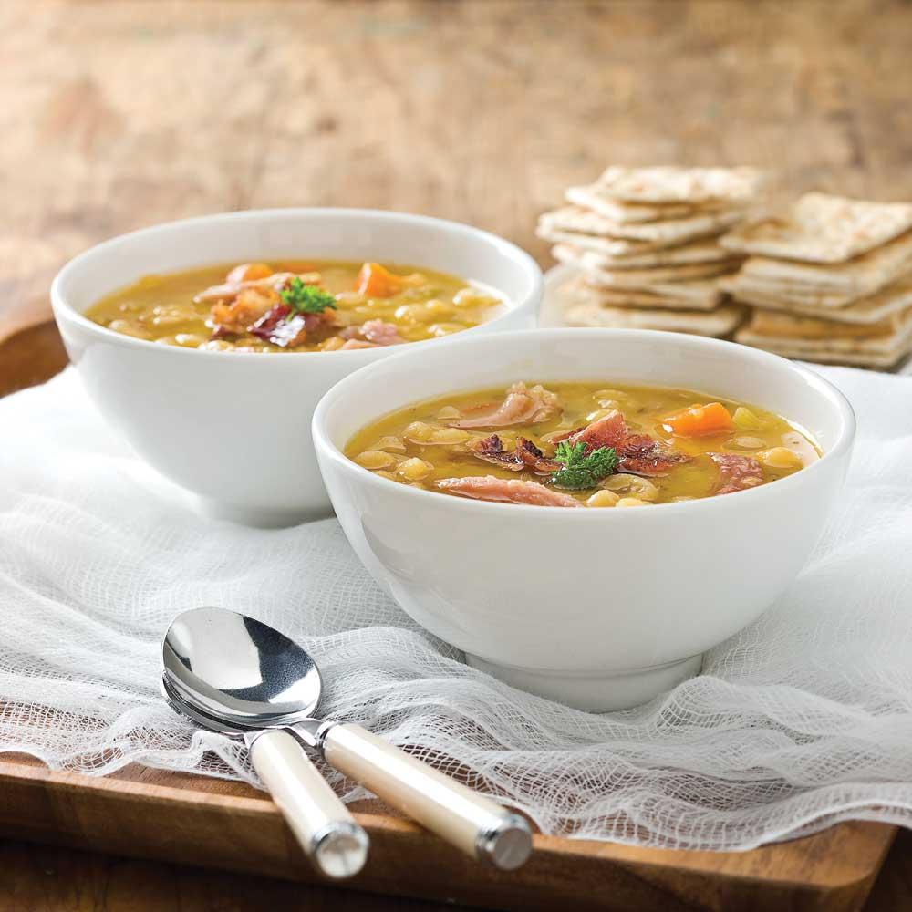 Soupe aux pois et jambon traditionnelle recettes - Cuisine pratique ...
