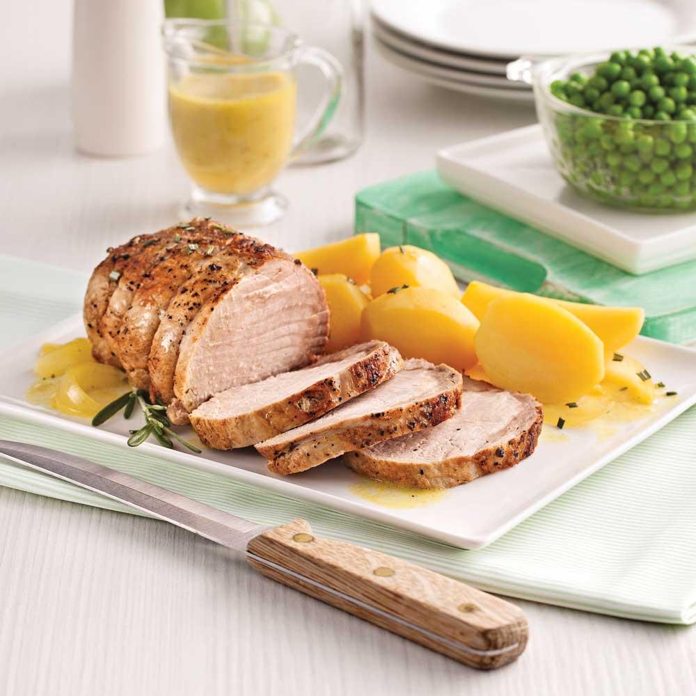 r ti de porc l 39 ail et patates jaunes recettes cuisine et nutrition pratico pratique. Black Bedroom Furniture Sets. Home Design Ideas