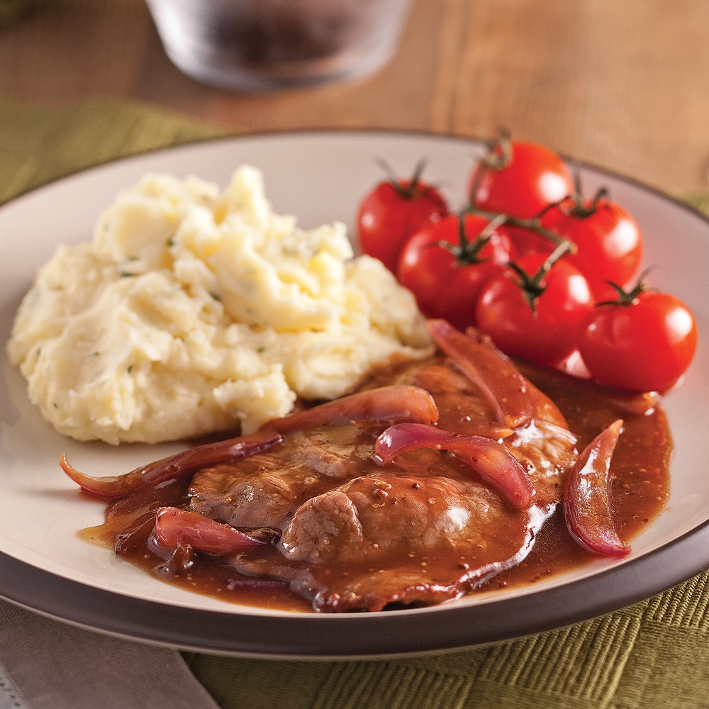 escalopes de veau au porto et oignon rouge recettes cuisine et nutrition pratico pratique. Black Bedroom Furniture Sets. Home Design Ideas