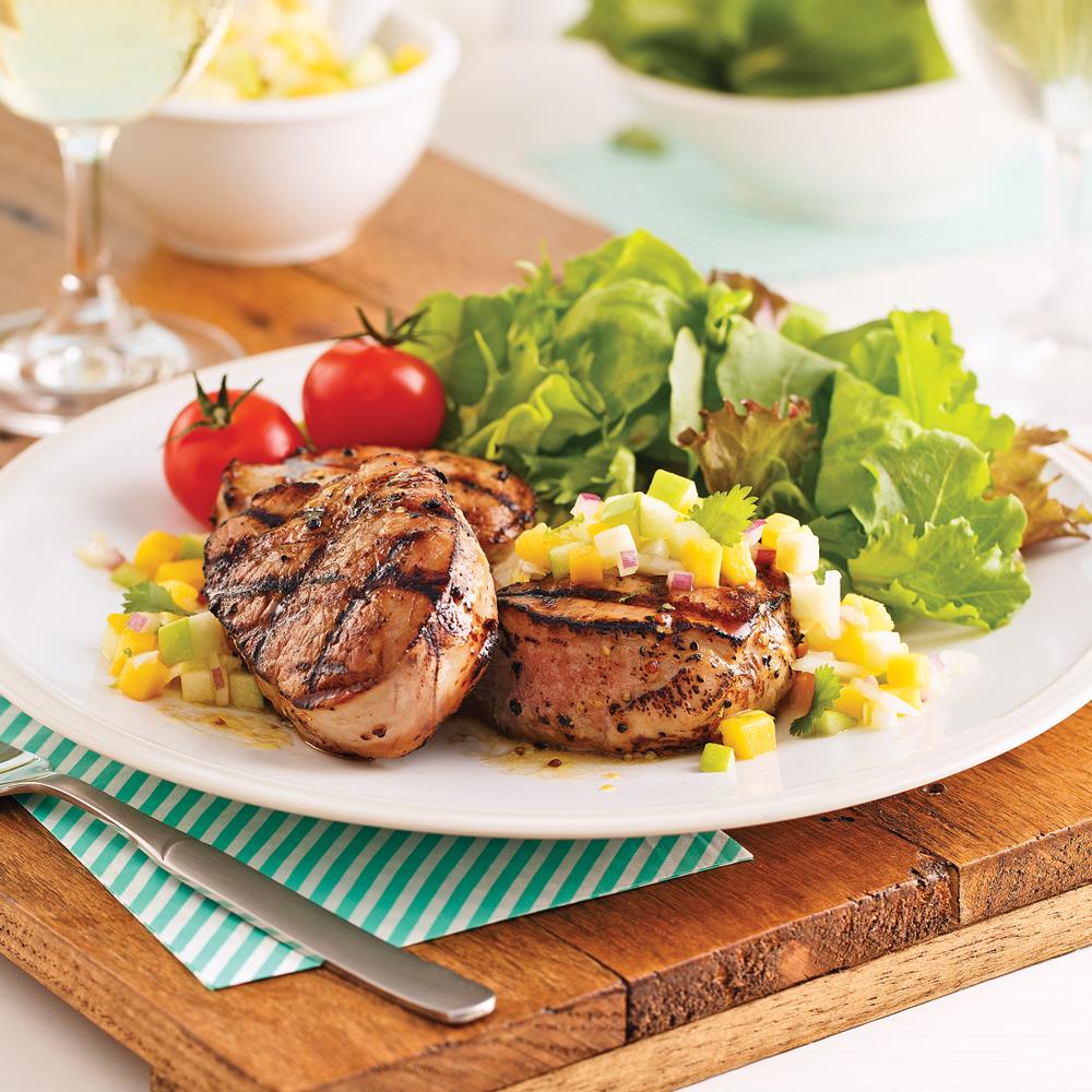 M daillons de porc moutarde et rable recettes cuisine et nutrition pratico pratique - Cuisine moutarde ...