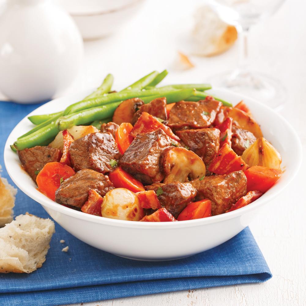 B uf bourguignon la mijoteuse recettes cuisine et - Cuisine a la mijoteuse ...