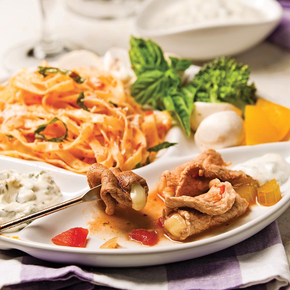 Fondue boeuf et veau l 39 italienne recettes cuisine et for Cuisine a l italienne