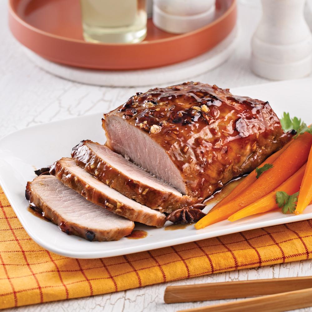 R ti de porc caram lis l 39 asiatique recettes cuisine - Cuisiner roti de porc ...