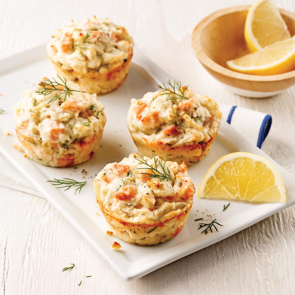 mini pains au saumon et pommes de terre recettes cuisine et nutrition pratico pratique. Black Bedroom Furniture Sets. Home Design Ideas