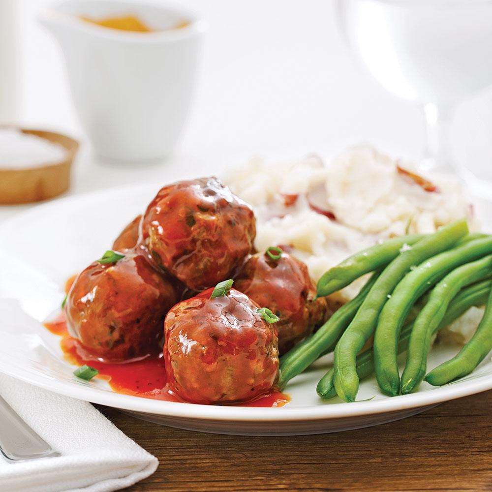 boulettes de viande sauce barbecue pour sacs congeler recettes cuisine et nutrition. Black Bedroom Furniture Sets. Home Design Ideas