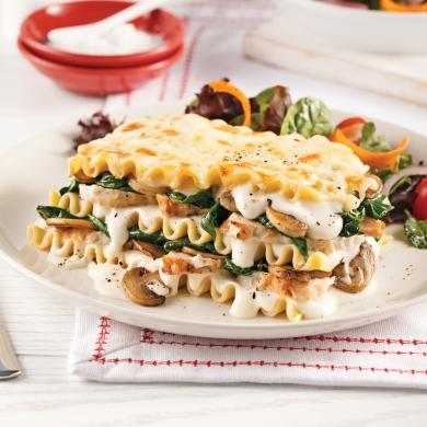 lasagne au poulet et champignons soupers de semaine recettes 5 15 recettes express 5 15. Black Bedroom Furniture Sets. Home Design Ideas